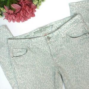 Mossimo Animal Print Skinny Jeans